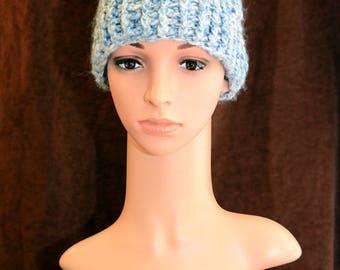 Sugar Blue Messy Bun Hat