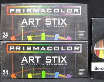 84 Piece Set of PRISMACOLOR Colored Pencils and Art Stix - PC952 - 283830 - 1953