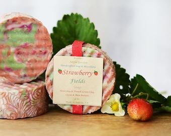 """Strawberry Fields Soap---Sweet Strawberry in a """"skin-loving"""" soap!"""