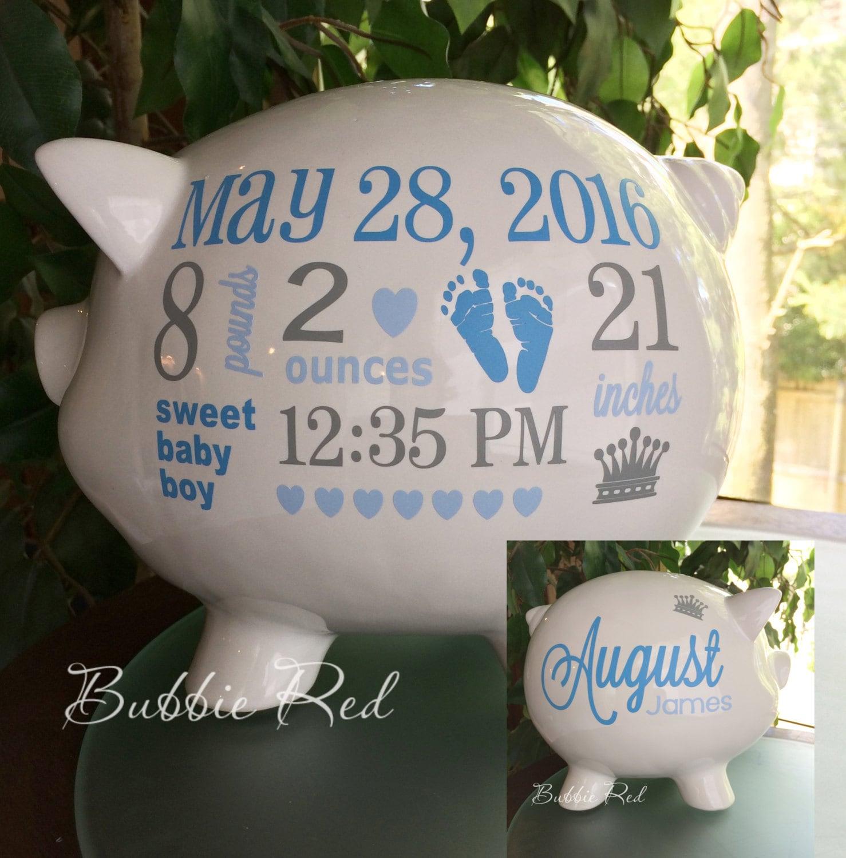 Personalized piggy bank piggy bank baby boy piggy bank zoom negle Choice Image