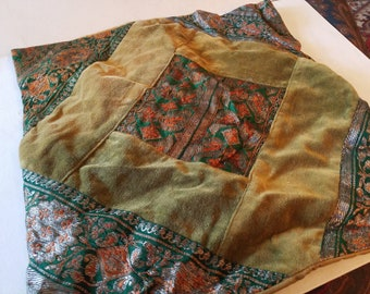 Velvet and brocade pillow case