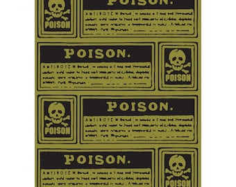 Tim Holtz Poison Labels Texture Fades A2 Embossing Folder 660973 RETIRED