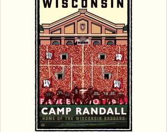University UW   Madison Camp Randall On Field by Mark Herman