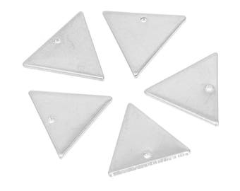 Set of 2 charms 14x12mm silver-plated TRIANGLE