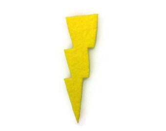 Lightning Bolt Iron On Patch - No Sew - Felt