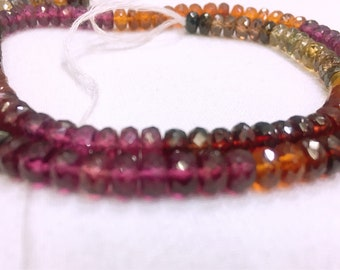 100% Natural MULTI TUNDRA GARNET Faceted Beads Nackless No Any Tratment