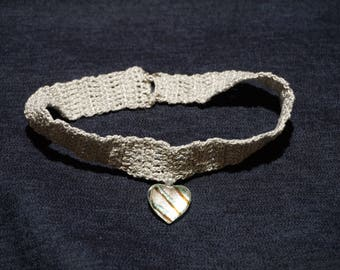 Choker, Silver with Heart