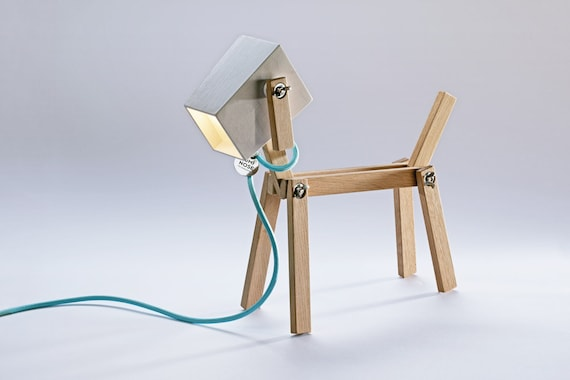 Dog Lamp Fine Design Wooden Table Lamp LUMINOSE The