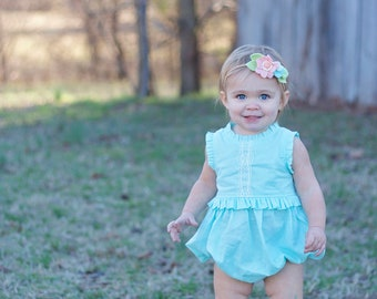 Lucerne Baby Romper and Dress PDF Sewing Pattern, including sizes newborn - 4 years, Baby Pattern