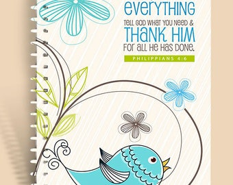 Don't Worry Birdie / Prayer Journal / Lined Journal / Personalized Notebook / Prayer Notebook / Devotional