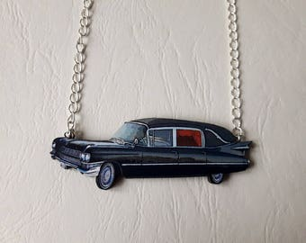 ♥ Necklace hearse car funeral ♥