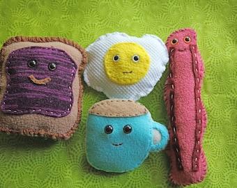 Stuffed Breakfast Family Play Food