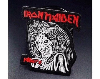 """Heavy Metal band Iron on Embroidered patch (L=3.5"""" W=3.0"""")"""