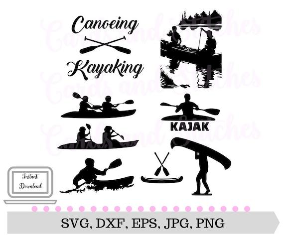 Download Canoe SVG Kayak SVG Outdoor SVG Digital Cutting File