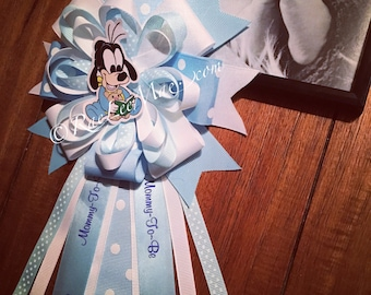 Baby Goofy Corsage Baby Shower- Mommy-To-Be Pin, baby goofy disney Theme Baby Shower, Baby Shower Corsage, mickey, disney babies