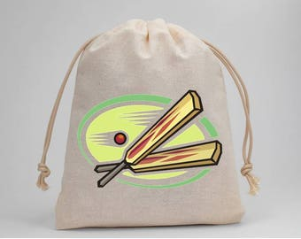 Cricket, Birthday Party, Party Bags, Muslin Bags, Candy Bags, Treat Bags, Favor Bags, Goodie Bags, Fabric Bags, Drawstring Bags