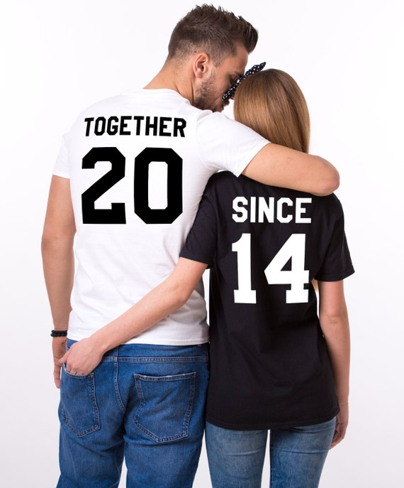 ON SALE Anniversary shirts - Couples shirts -
