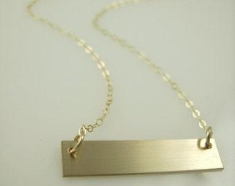 Plain Gold Bar Necklace