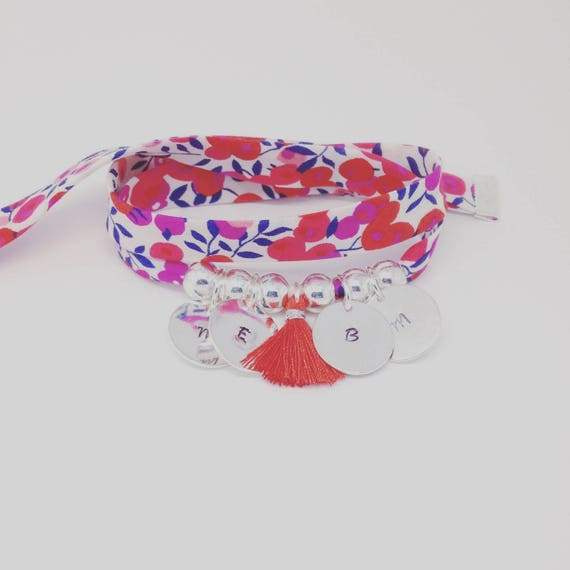 Bracelet GriGri XL Liberty with 4 custom ENGRAVINGS and tassel by Palilo