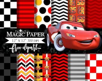 Cars Digital Paper Clipart Clip Art