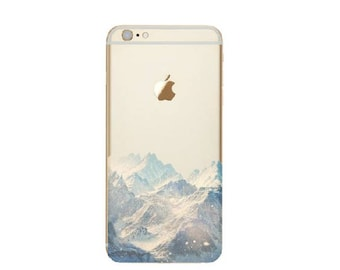 New Snow Mountain iPhone Case Scenery iPhone X 8 7 6s 6 Plus 5SE Samsung s6 s6e s7e Case Top Selling Item Clear Silicone iPhone Case