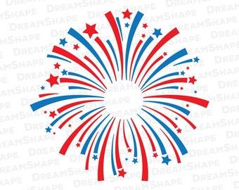 Fireworks SVG Files, Fireworks SVG Cut File, Monogram Fireworks Dxf Cutting Files, Fireworks SVG, Party Firework Svg Files, Instant Download