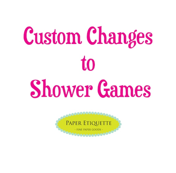 Cheap Design Changes That Have: Custom Changes To Shower Games Print Your Own