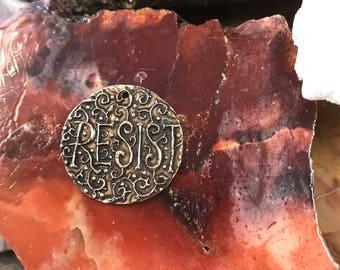 Andrew Thornton Resist Coin/Pendant (BRONZE)
