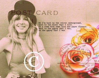 Stevie Nicks 'Gypsy' postcard art