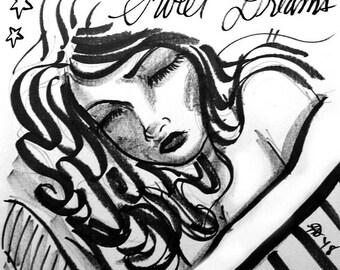 Sending Out Some Sweet Dreams Art Print by Nachanita