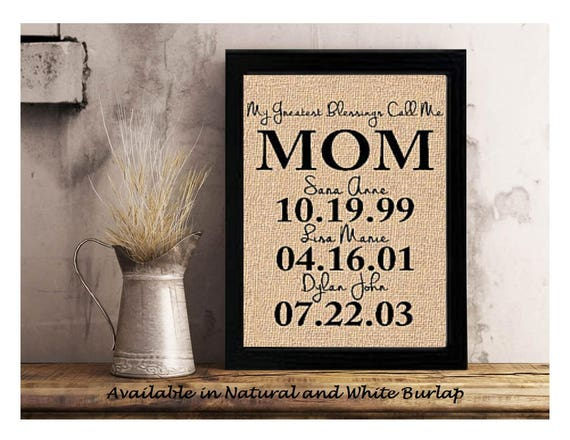 Personalized Gift For Mom Mom Personalized Gift