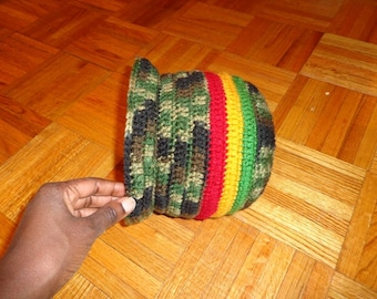 Natty Dread, Crochet Brim Cap