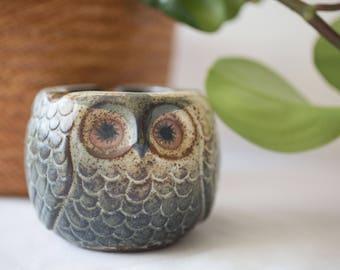 Cute Vintage Ceramic Owl Ashtray