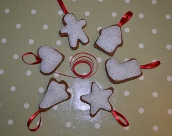 Handmade felt Christmas cookie garland / decoration