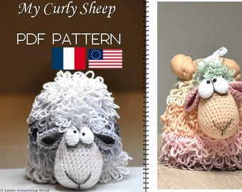 crochet sheep amigurumi  - PDF digital crochet pattern