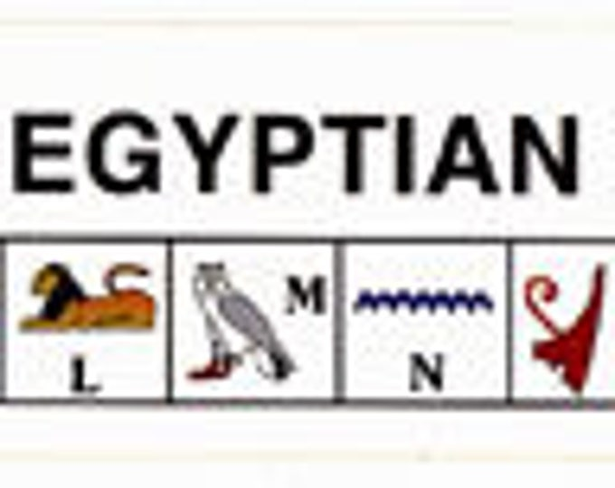 New Price! Egyptian Alphabet and Number stickers! Learn to read Hieroglyphics and numbers in Ancient Egyptian! PRICE-.40 each Sold in dozens