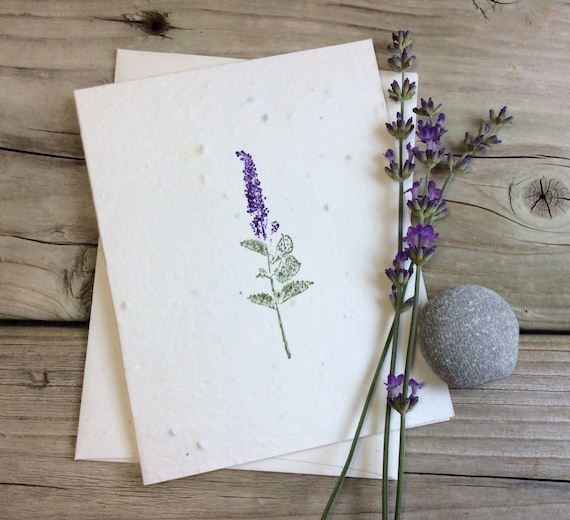 Lavender plantable greeting card wildflower seeded paper plantable greeting card wildflower seeded paper m4hsunfo