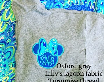 Minnie Mouse Lilly Pulitzer Disney Lilly P Quarter zip pullover sweatshirt Lilly P quarter zip