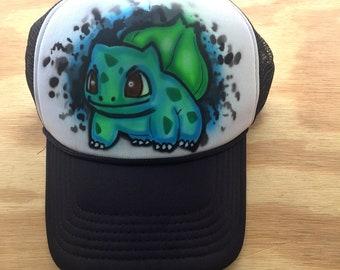 Bulbasaur Pokemon Hat, Pokemon, Pokemon Go, Pokemon Birthday, Pokemon Plush, Pokemon Shirt, Pokeball, Pokemon Invitation, Airbrush Hat