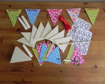 Make Your Own Wooden Bunting Kit by Apples To Pears -