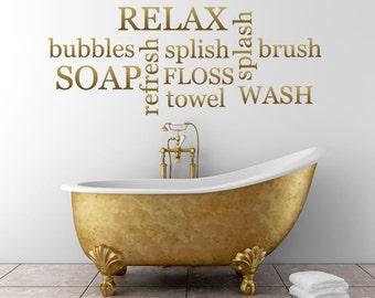 Relax Bathroom Wall Sticker
