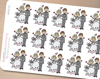 Wedding Day Planner Stickers perferct for Erin Condren, Kikki K, Filofax and all other Planners