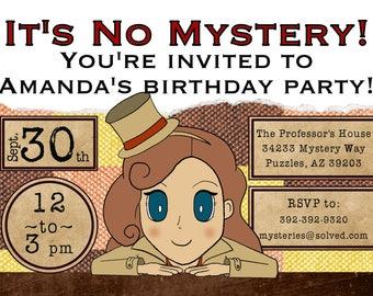 Layton Birthday Digital Invite