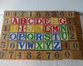 Old Wood Alphabet Blocks