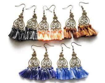 Bohemian Tassel Earrings, Vintage Earrings, Drop Earrings, Women's Earrings, Girls Earrings