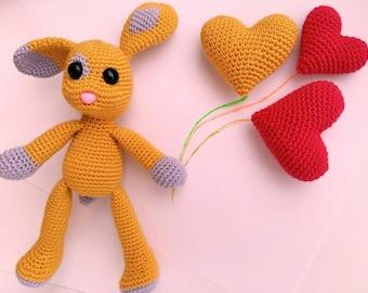 Crochet Puppy Amigurumi, Crochet Amigurumi Dog, Crochet Keychain, Golden Puppy, amigurumi bunny, Puppy Plush Dog, Easter gift, happy easter