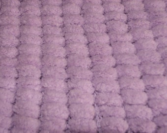 Blanket for cozy 100% polyester - handmade purple tassels