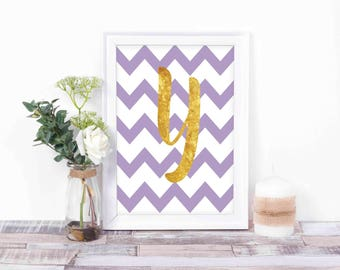 Script Letters -  - Personalized Gift - Printable Signs - Instant Download - Monogram Y Print - Monogram Sign -  Typography