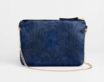 Clutch bag, Cross body bag, Vegan bag, Blue Crossbody bag, Gift for her, Vegan purse, Vegan gift, Small Crossbody purse, Evening clutch