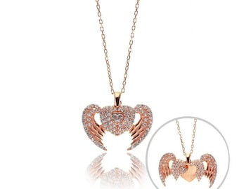 Great  Gift!!!925 Silver Turkish Handmade Mini Necklace-Flying Wings